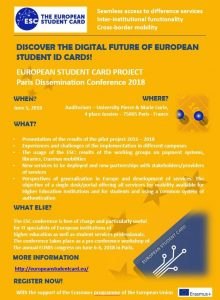 European Student Card Conference 2018 in Paris